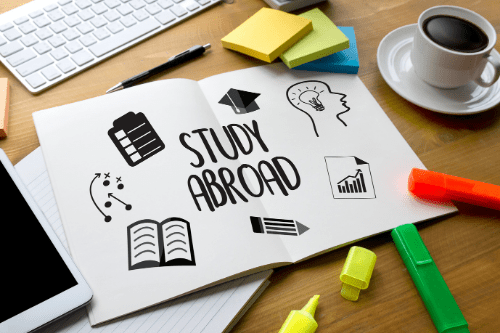 Image of study abroad paper with drawings